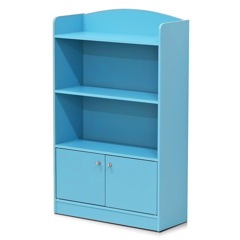 Furinno KidKanac Bookshelf with Storage Cabinet