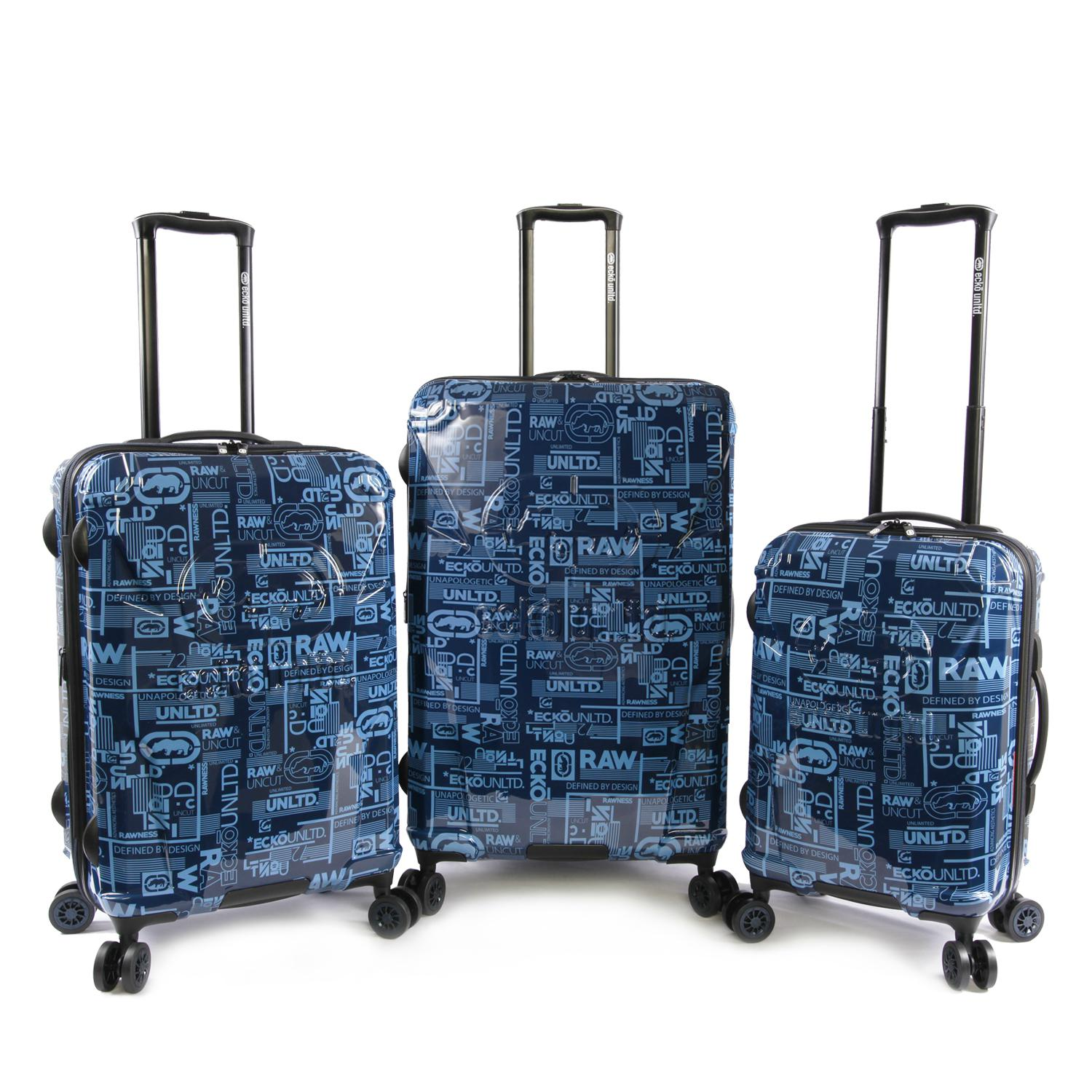 Ecko Unltd Garrison 3 Piece Expandable Suitcase Set