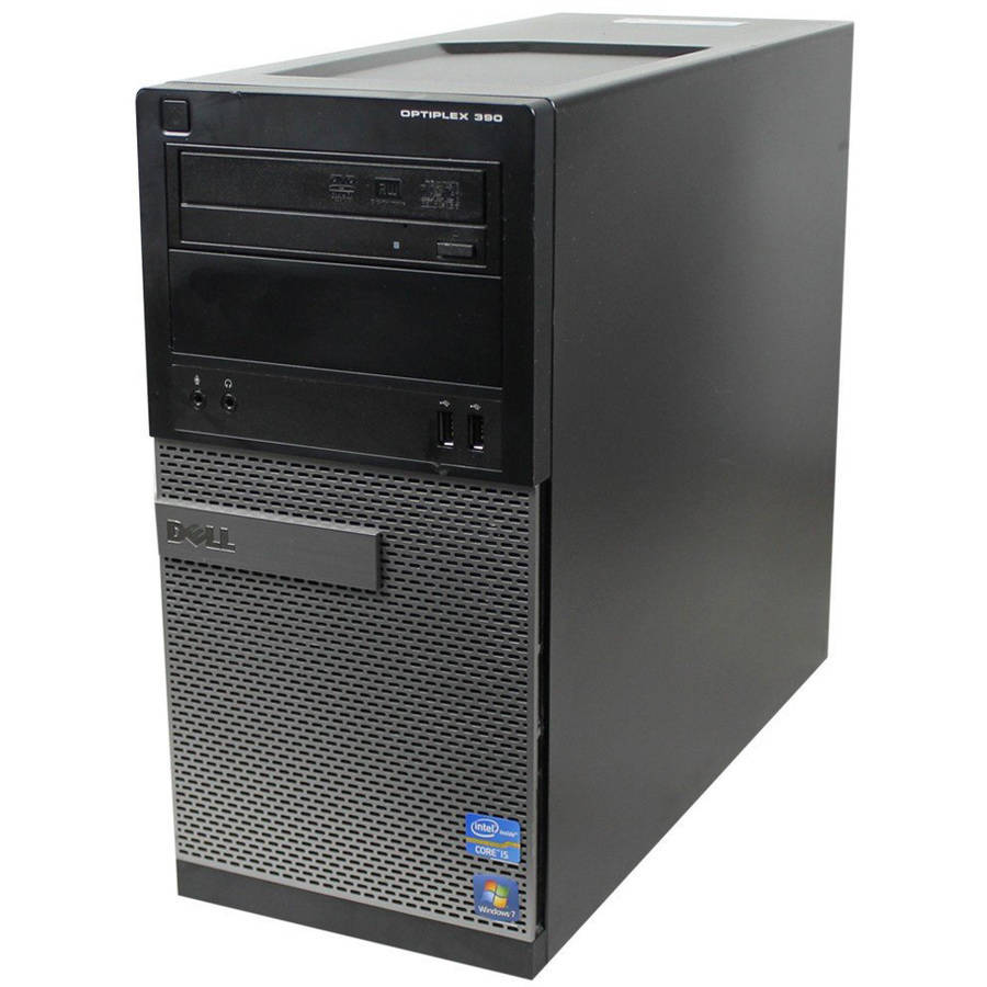Refurbished Dell 390 TWR Desktop PC with Intel Core i5-2400 Processor, 8GB Memory, 1TB Hard Drive and Windows 10 Home (Monitor Not Included)