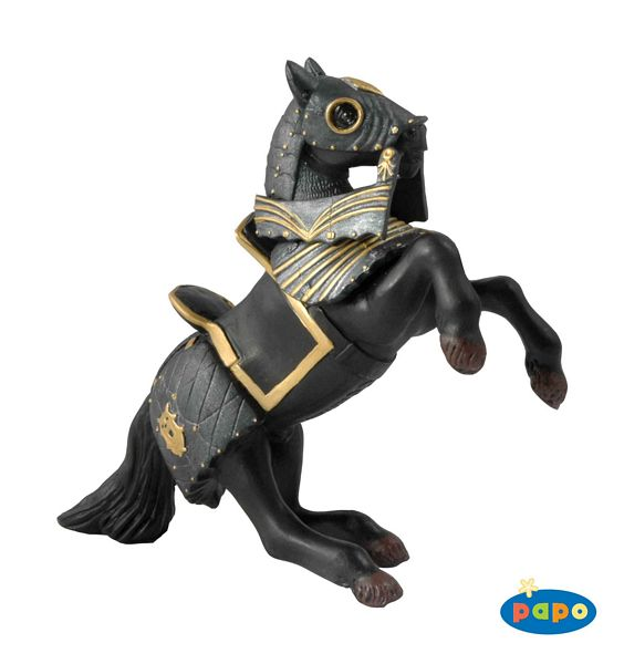 Armored Reared Up Black Horse  - PP39276