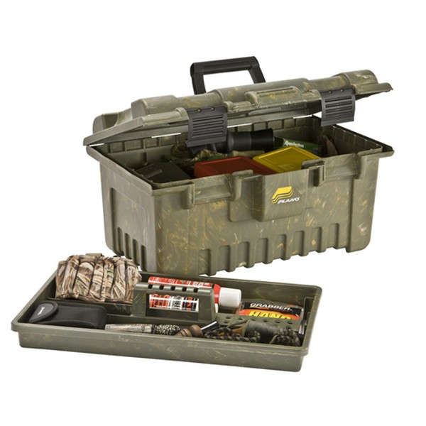 PLANO SHOOTERS LARGE FIELD BOX PORTABLE PLASTIC CAMO