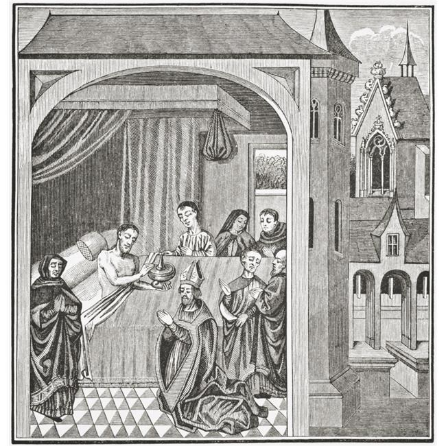 Posterazzi DPI1862877LARGE Death of Joseph of Arimathea After A Miniature From the 15th Century Manuscript History of Saint Grail From Science An 2 Poster Print, 24 x 24 - image 1 of 1