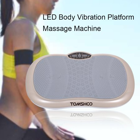 TOMSHOO Touchscreen LCD Body Vibration Platform Fitness Vibration Plate Machine Workout Trainer Hips Muscle Weight Loss Exercise