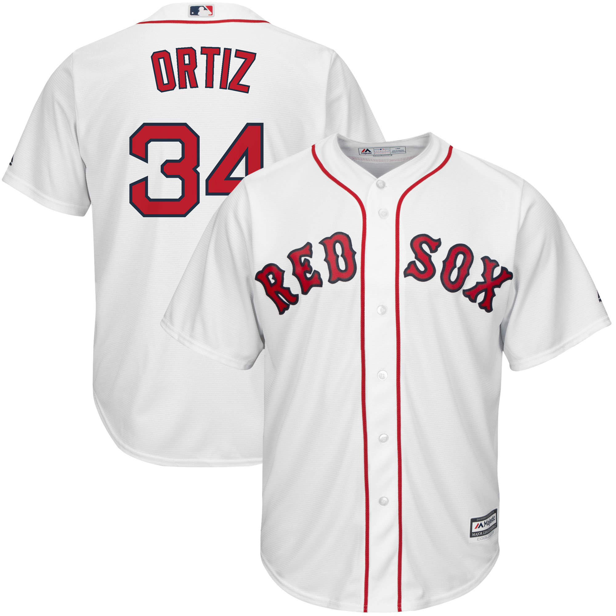 online store 4e754 10c4c David Ortiz Boston Red Sox Majestic Home Official Cool Base Player Jersey -  White