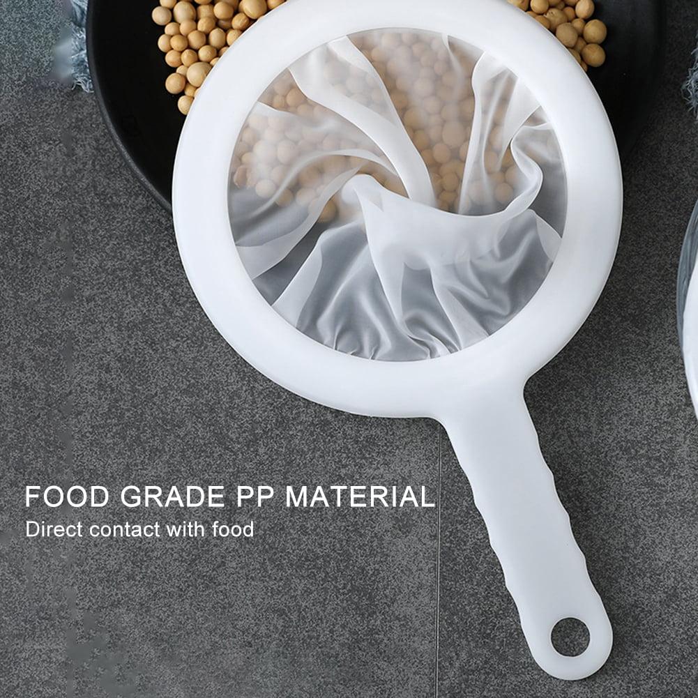 100//200//400 Mesh Ultra-fine Mesh Strainer Kitchen Soy Milk Nylon Filter Spoon