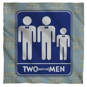 Two And A Half Men Men Bandana  White One Size
