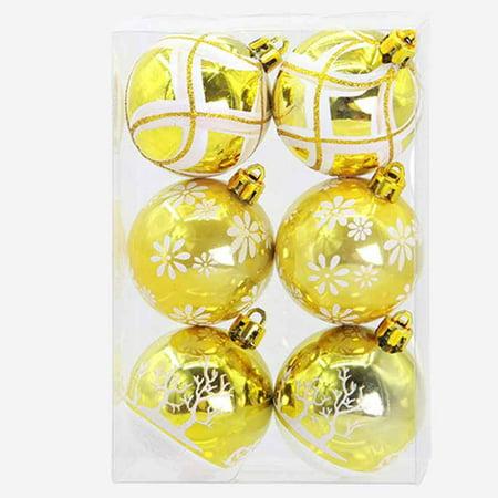 Christmas 6 Balls Wreath Door Wall Ornament Garland Decoration ()