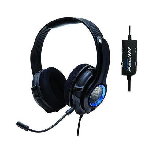SYBA OG-AUD63076 Cruiser (((Rumble))) Effect PlayStation Gaming Headset with Detachable Boom Microphone, Hand-Washable Removable Ear-cup