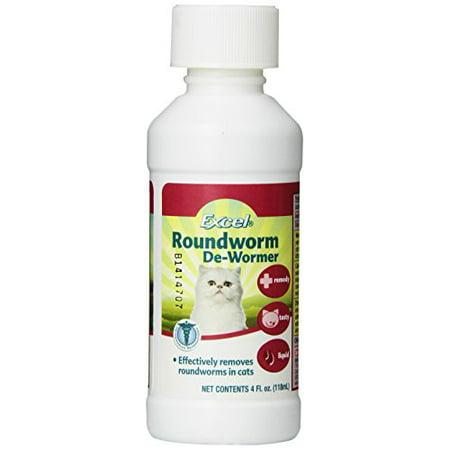 Excel Roundworm De-Wormer (4 oz) (Best Cat Dewormer Otc)