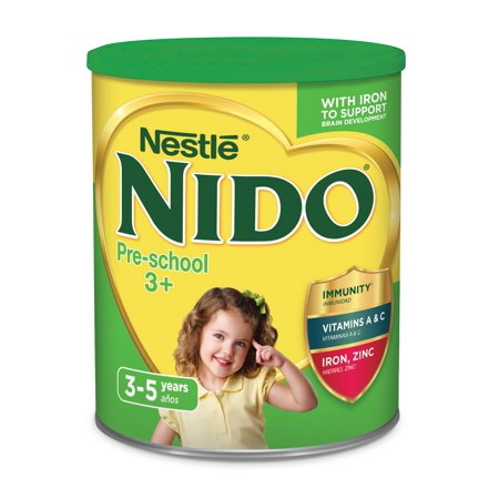 NIDO 3+ Powdered Milk Beverage 1.76 lb. Canisters (Ounces Of Milk For 4 Month Old)