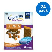 Glucerna Mini Treats for People with Diabetes to Help Manage Blood Sugar, with CARBSTEADY and Essential Vitamins & Minerals, 80 Calories, Chocolate Caramel, 0.70 oz