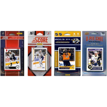 C&I Collectables NHL Nashville Predators 4 Different Licensed Trading Card Team