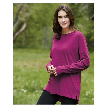 T-Shirts - Long Sleeve Ringspun Cotton Drop Shoulder Long Sleeve - Ringspun Cotton Tee
