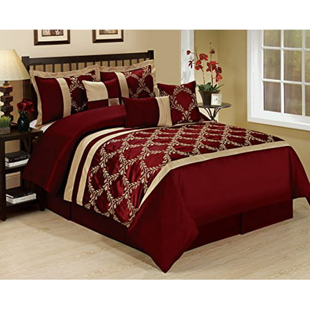 7 Piece Claremont Classic Diamond Embroiderd Clearance Bedding