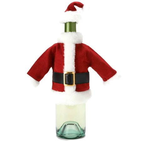 Food Network Festive Christmas Wine Bottle Cover - Red & White Santa Claus Suit](Food Network Halloween)