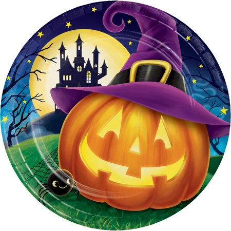 Halloween Eve Paper Plates, 8 pack