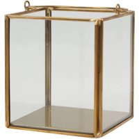 Better Homes & Gardens Glass and Gold Small Lantern