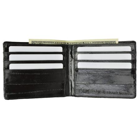 Eel Skin Clutch - Genuine Eel Skin Classic Bi-fold Mens Wallet E 705