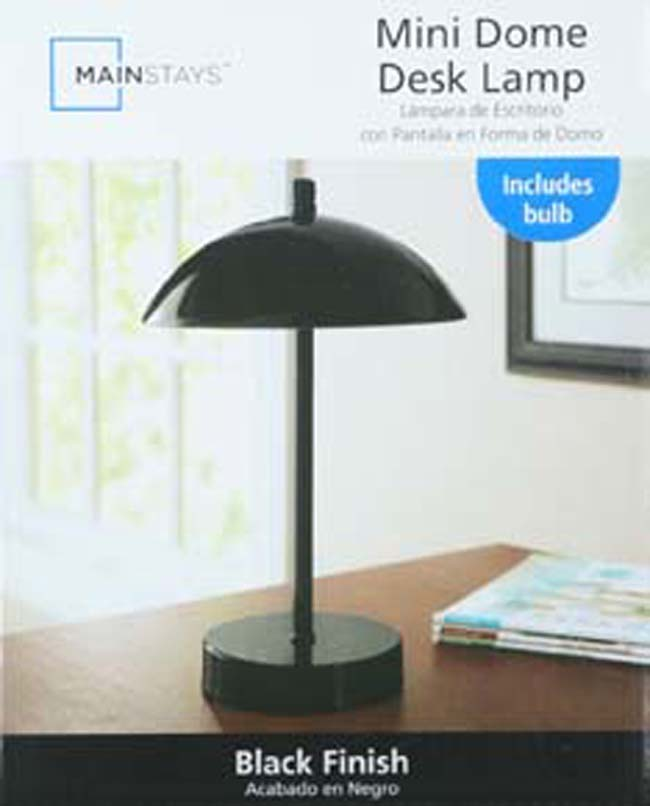 Mainstays touch control mini dome lamp black walmart com