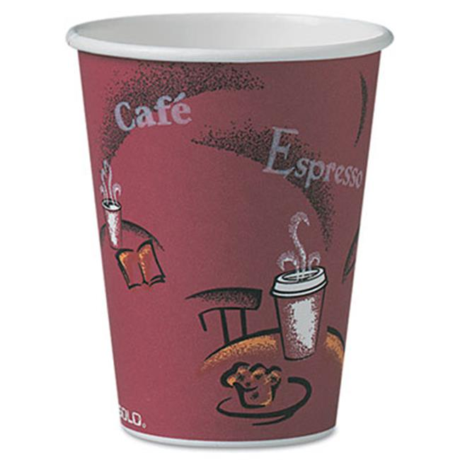 Solo Cup OF12BI0041 Bistro Design Hot Drink Cups Paper, 12 oz.