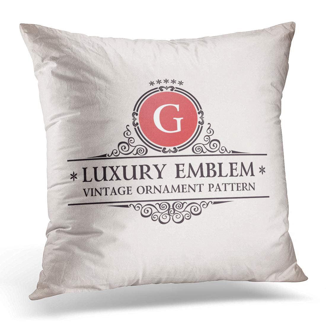 Bosdeco Wedding Luxury Calligraphic Pattern Elegant Vintage G Monogram Pillowcase Pillow Cover Cushion Case 18x18 Inch Walmart Canada