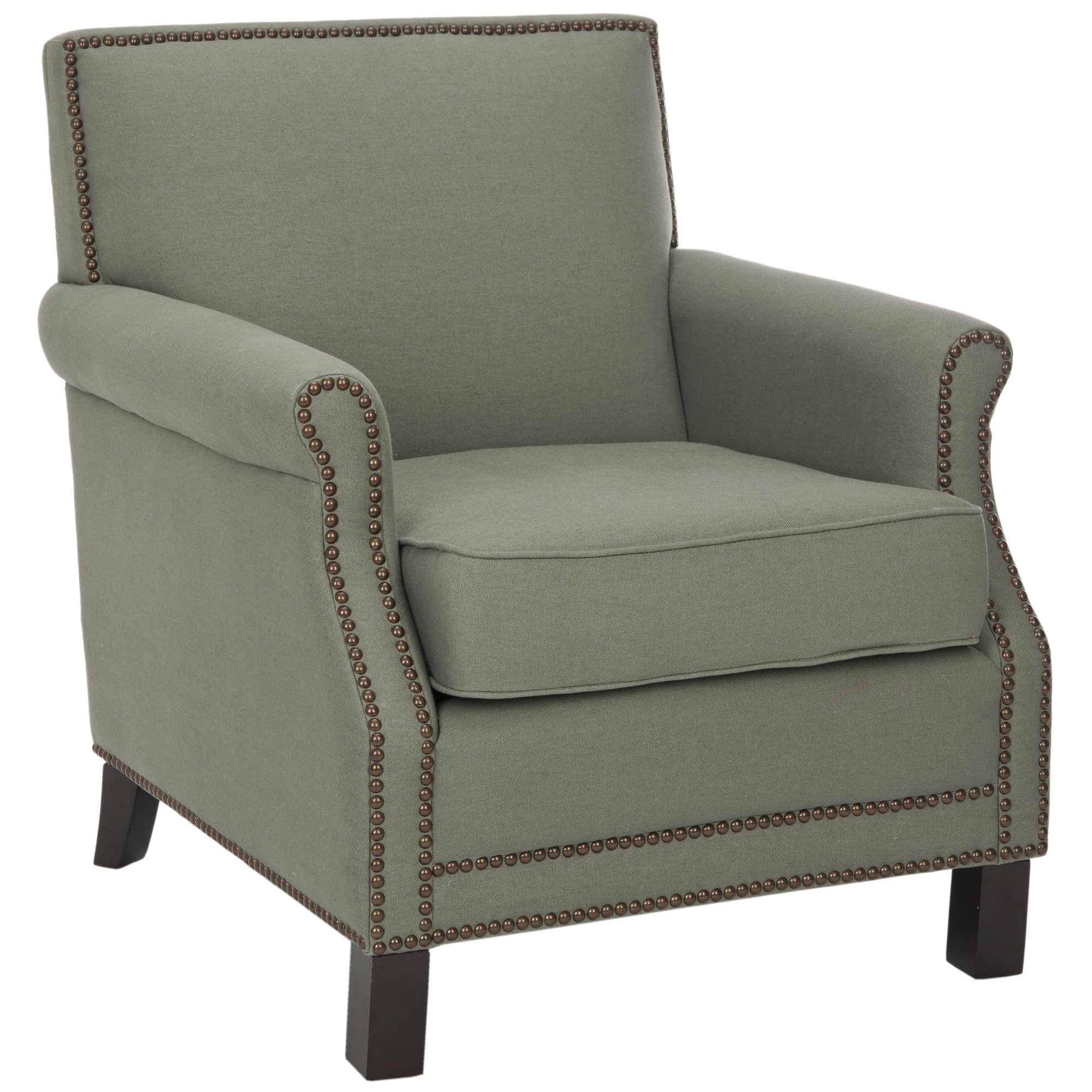 Safavieh Mansfield Grey Club Chair by Overstock