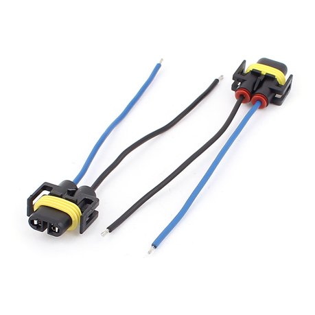 Car Headlight Lamp H11 Socket Wiring Wire Harness Connector Adapter 2Pcs