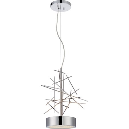2-Light Pendant in Polished Nickel Finish ()