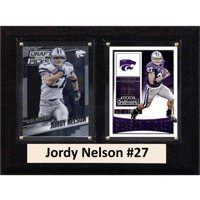 """C & I Collectables NCAA 6"""" x 8"""" Jordy Nelson Kansas State Wildcats 2 Card Plaque"""
