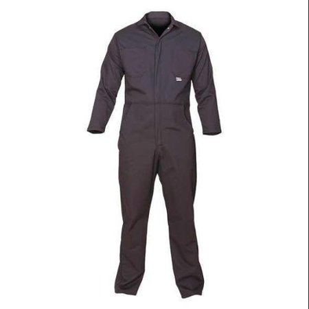 CHICAGO PROTECTIVE APPAREL 605-USN-5XL Flame-Resistant Coverall, Navy Blue, 5XL