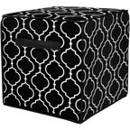 Urban Shop Metallic Large Ottoman Multiple Colors