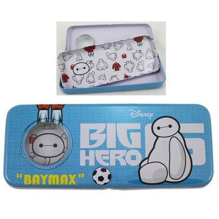 Disney's Big Hero 6 Baymax Light Blue Tin Pencil Box