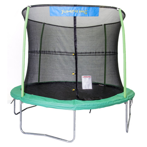Jumpking 10-Foot Trampoline, with Safety Enclosure, Green
