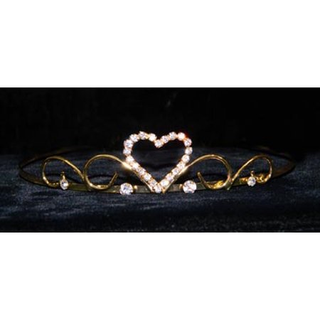 #14687G - Sweet Heart Wire Tiara - Gold Plated](Sweet 16 Tiaras)