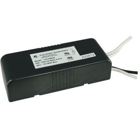 60w Electronic Transformer (Cal Lighting TR-60 Transformer - 120V 60W)