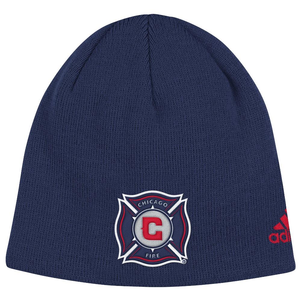 "Chicago Fire Adidas MLS ""Team Basics"" Cuffless Knit Hat by Adidas"