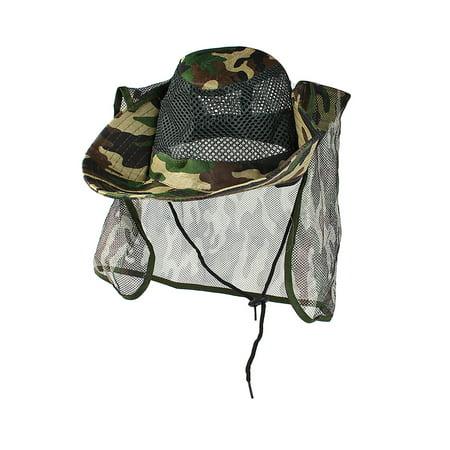 Unique Bargains Unisex Adjustable Neck Strap Camouflage Pattern Wide Brim Sun Visor Hat