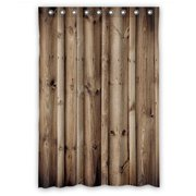 GCKG Vintage Rustic Knotty Old Barn Wood Waterproof Polyester Shower Curtain Bathroom Deco 48x72 inches