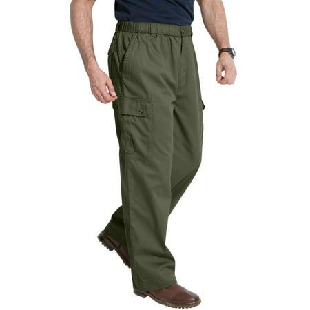 Kingsize Men's Big & Tall Knockarounds Cargo Pants With Full Elastic Waist