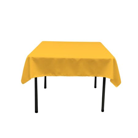 TCpop52x52-YellowDrkP47 Polyester Poplin Square Tablecloth, Dark Yellow - 52 x 52 in.](Yellow Table Cloth)