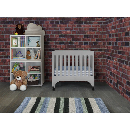Baby Mod - Dylan Mini Crib, Cool Grey