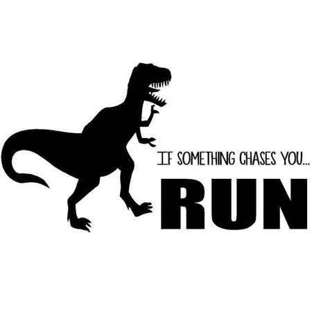 Vinyl Decal Jurassic Park Quote dinosaur Vinyl Wall Decal T Rex Bedro
