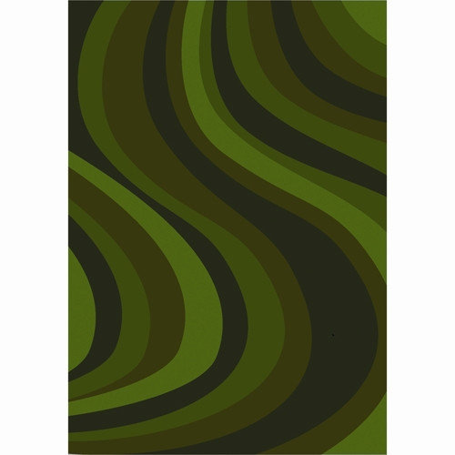 Joy Carpets Whimsy on the Curve Green Area Rug