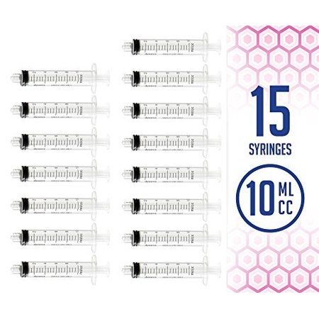 MEDca 10ml Oral Syringe with Cover - 15 Syringes ( No needle ) - Halloween Jello Shots Syringes