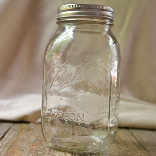 2 Pcs Table Decor Mason Jar With Lid Small Mouth Quart Canning 32 oz by