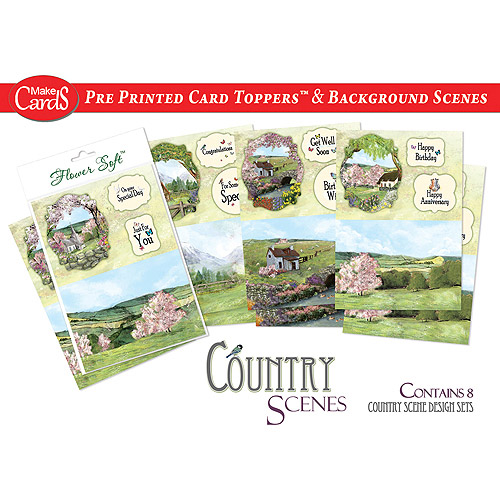 Katy Sue Designs Card Toppers and Background Scenes, 8pk