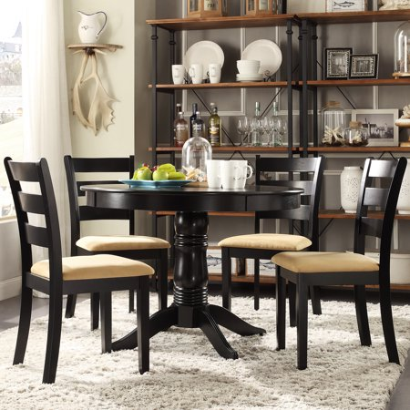 Lexington 5-Piece Round Dining Set with 4 Ladder Back Chairs ()