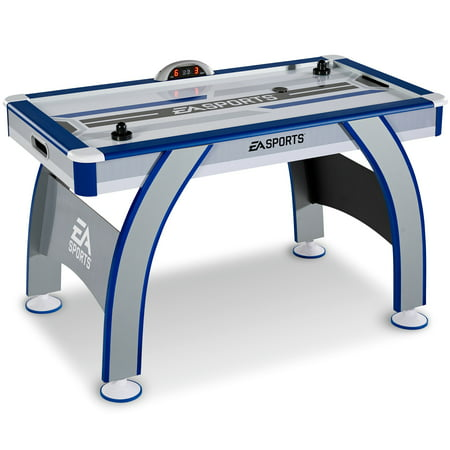 EA Sports 54 Inch Air Powered Hockey Table with LED Electronic Scorer (Folding Air Hockey Table)