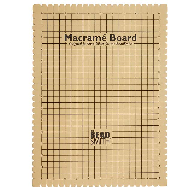 BeadSmith Large Macrame Board For Braiding 14x10 Inches (1 Piece)