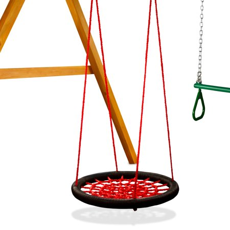 Gorilla Playsets Red Orbit Swing with Rope - Extra Large, 33-Inch Diameter